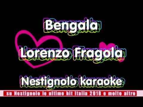 Lorenzo Fragola - Bengala karaoke - Testo e musica