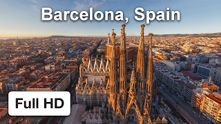 Barcelona, Sagrada de Familia(The video has been created from the aerial photo panorama. Original virtual tour can be found on www.airpano.com., 2014-08-27T10:57:45.000Z)