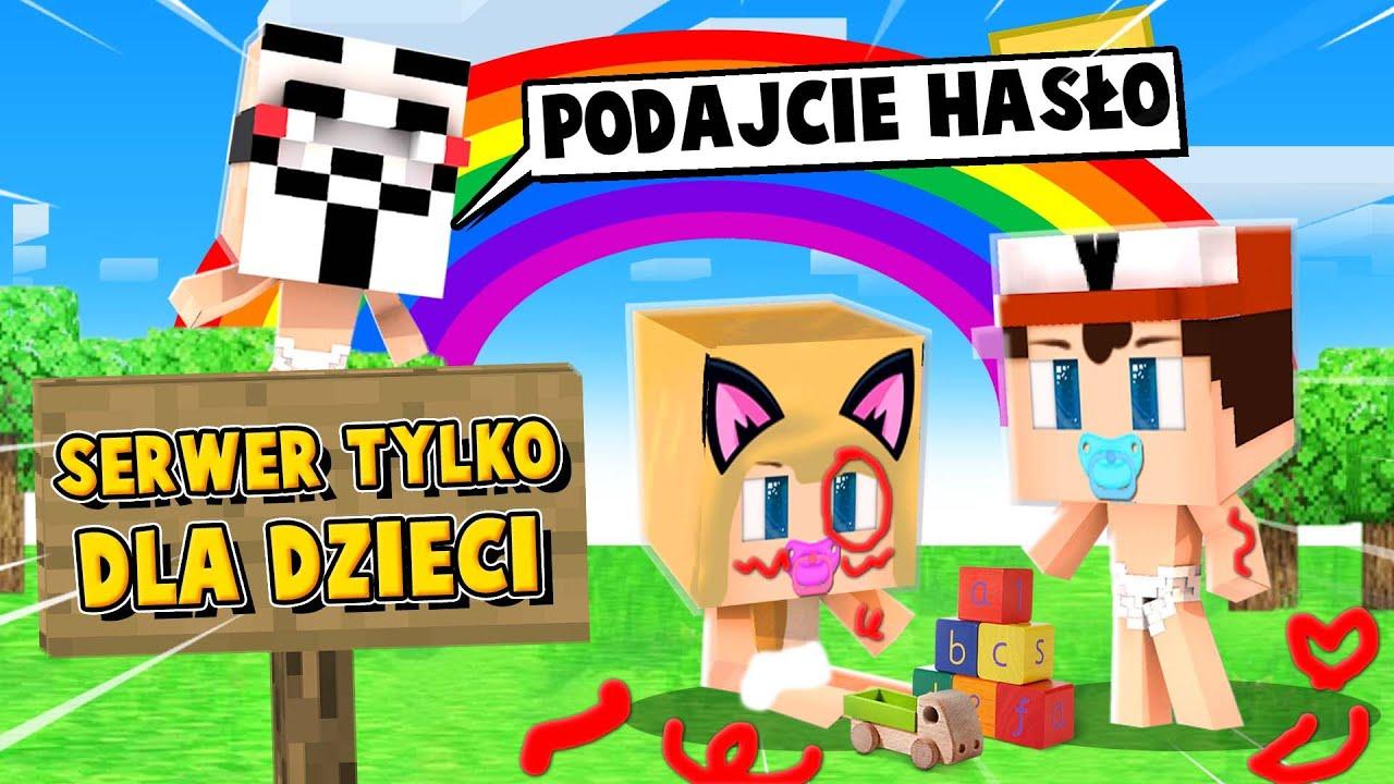 WŁAMALIŚMY SIE NA SERWER TYLKO DLA 5 LATKÓW w Minecraft! | Vito i Bella