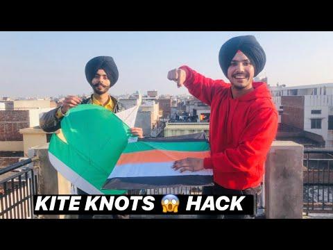 How To Tie Kite Knots 😱 Patang , Kite || Kites Vlog