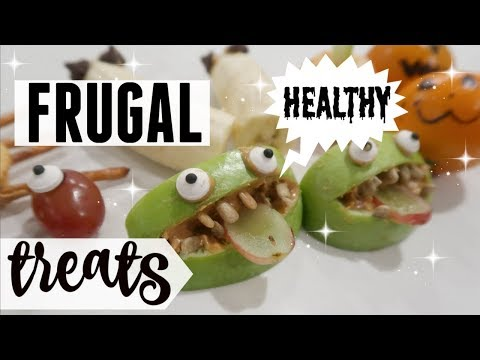 🎃DIY HALLOWEEN TREATS FAMILY FRIENDLY ●  HEALTHY, FUN & FRUGAL FALL SNACK IDEAS ● VEGAN PARTY FOOD