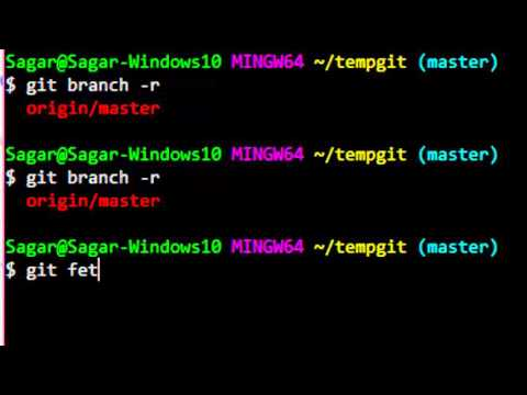 How To Update Remote Branch List In Git