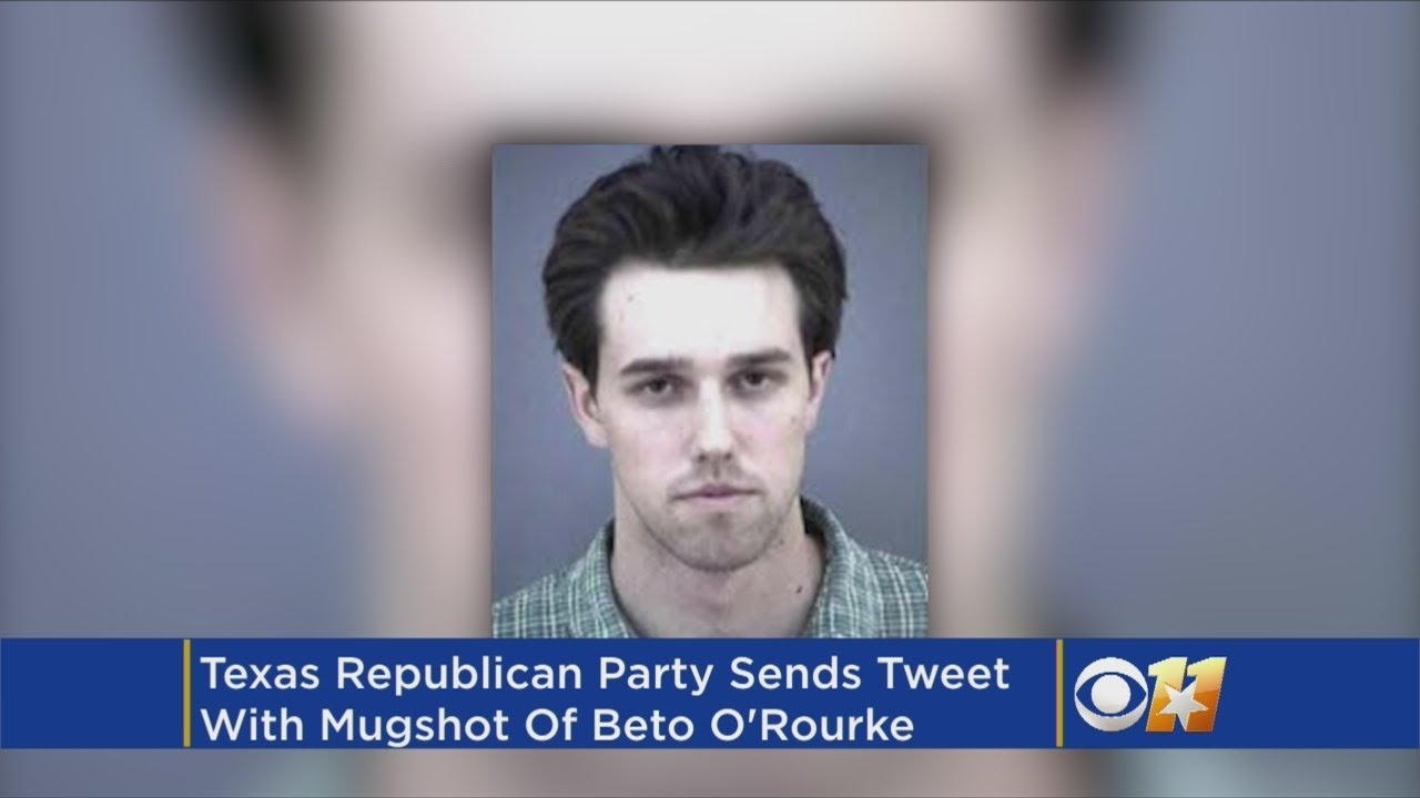 O'Rourke's mugshot for leaving the scene of an accident while drunk