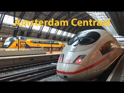 Trains At Amsterdam Centraal - Treinen Naar Amsterdam Centraal