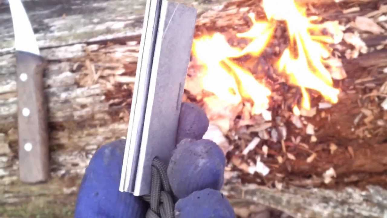 how to use magnesium fire starter from harbor freight