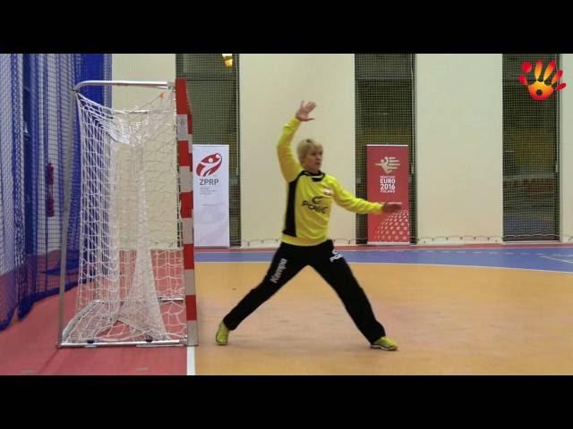 Techniki obrony piłek ze skrzydła. Podstawy techniki gry bramkarza w piłce ręcznej.