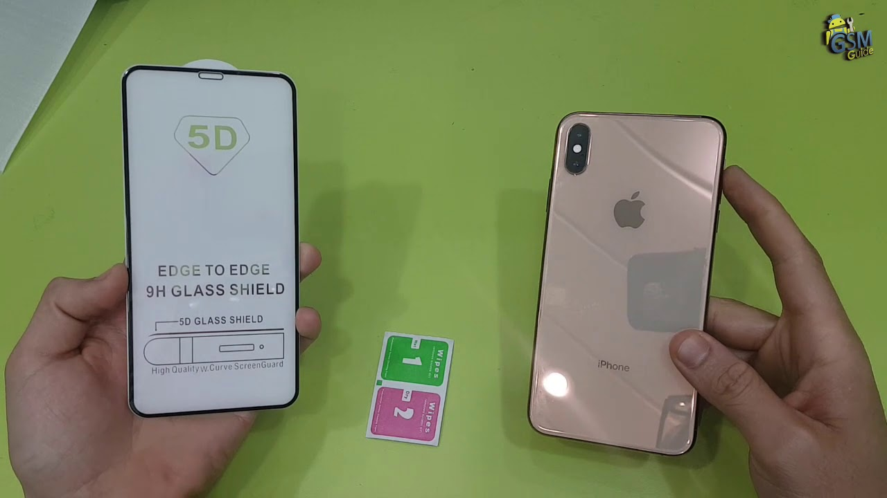 Iphone Xs Max 5D Tempered glass Full Glue how to put - Gsm Guide