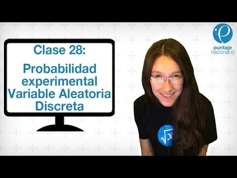 Clase 28 Matemática 2014: Probabilidad experimental y Variable aleatoria discreta