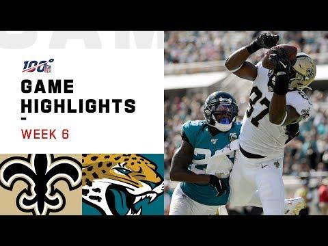 Saints vs. Jaguars Week 6 Highlights | NFL 2019
