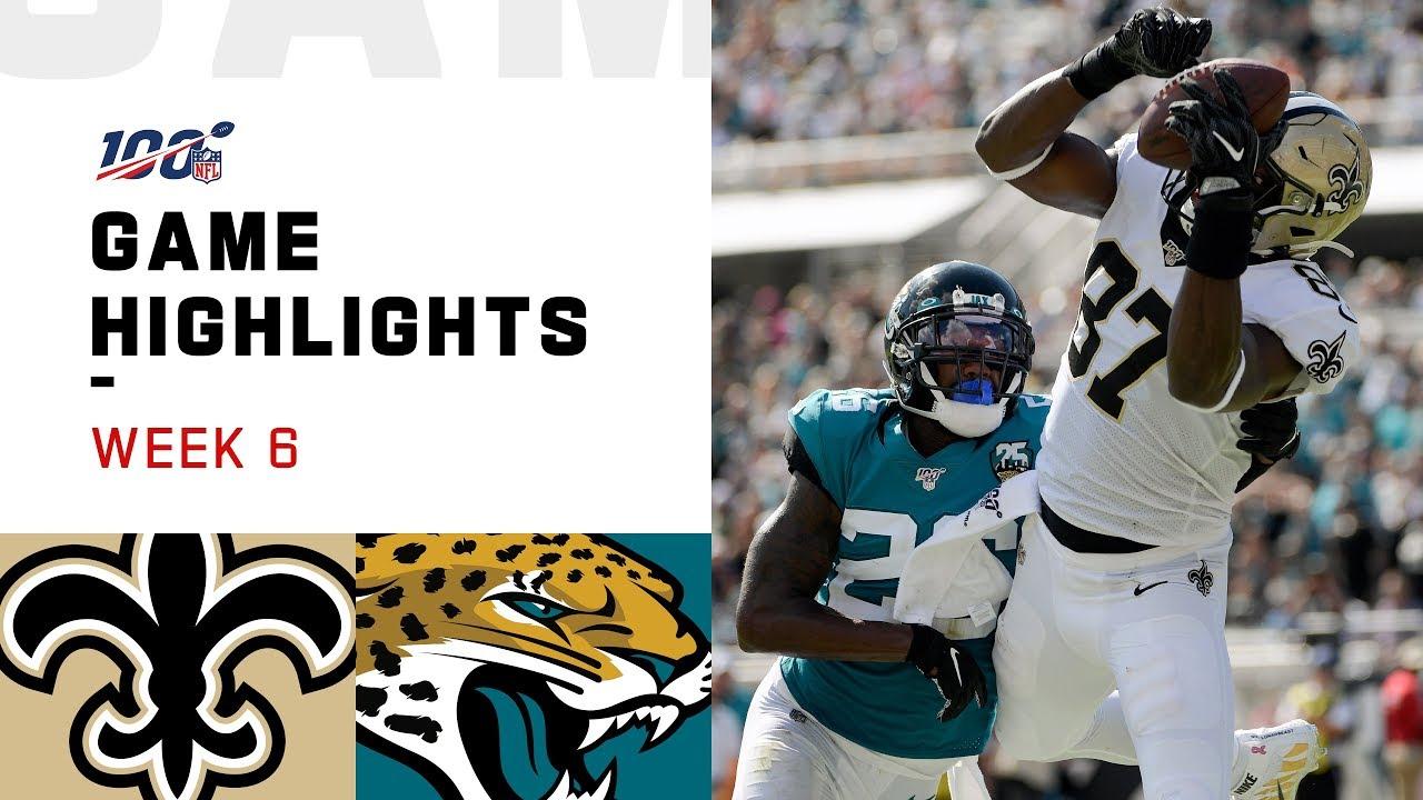 Saints Vs Jaguars Week 6 Highlights Nfl 2019
