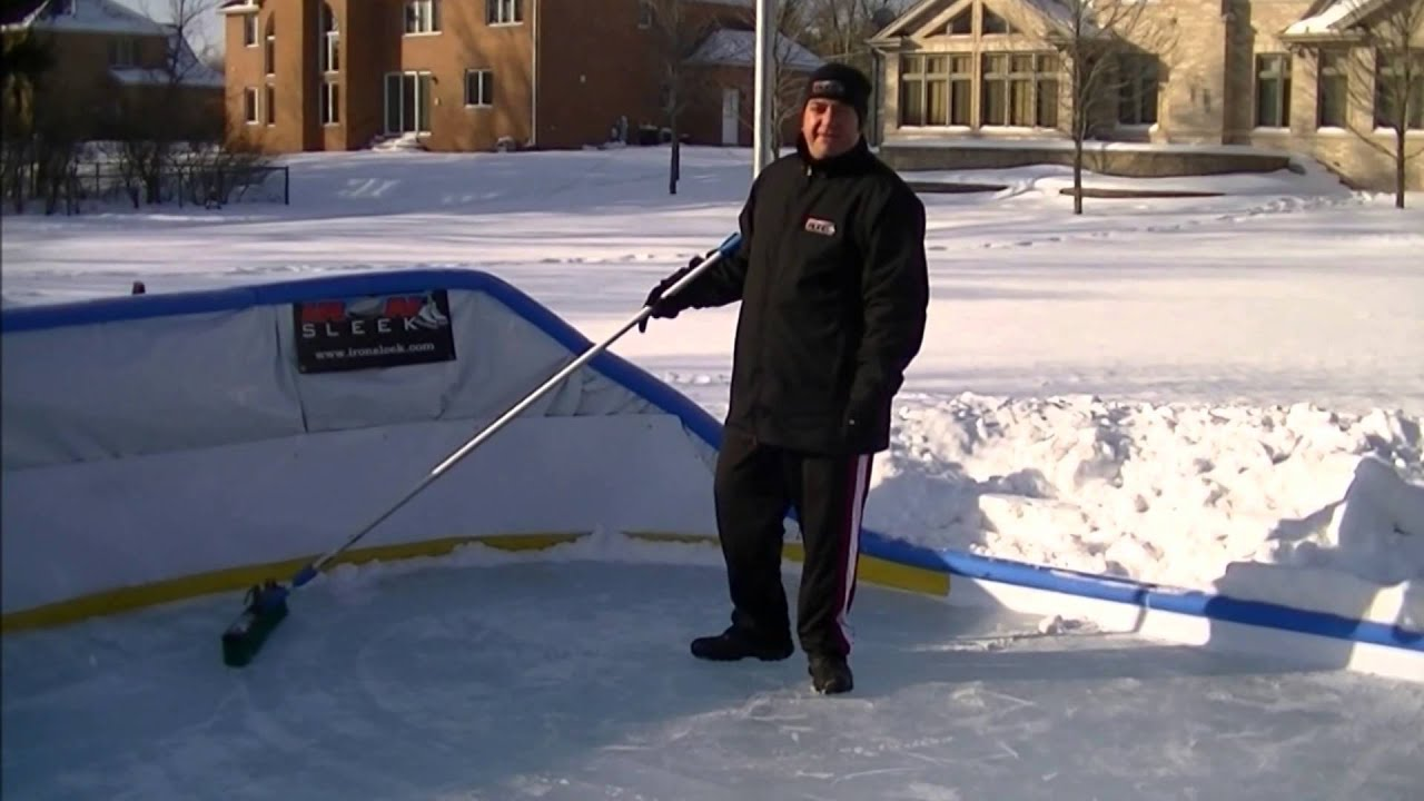 backyard ice rink maintenance by iron sleek youtube