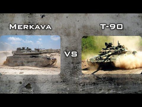 MERKAVA MK4(ISRAEL) VS T-90MS(RUSSIA)