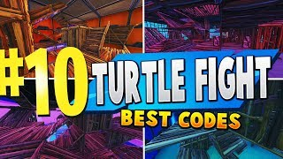 TOP 10 BEST TURTLE FIGHT Creative Maps In Fortnite - France Fortnite Turtle Wars Map CODES (en)