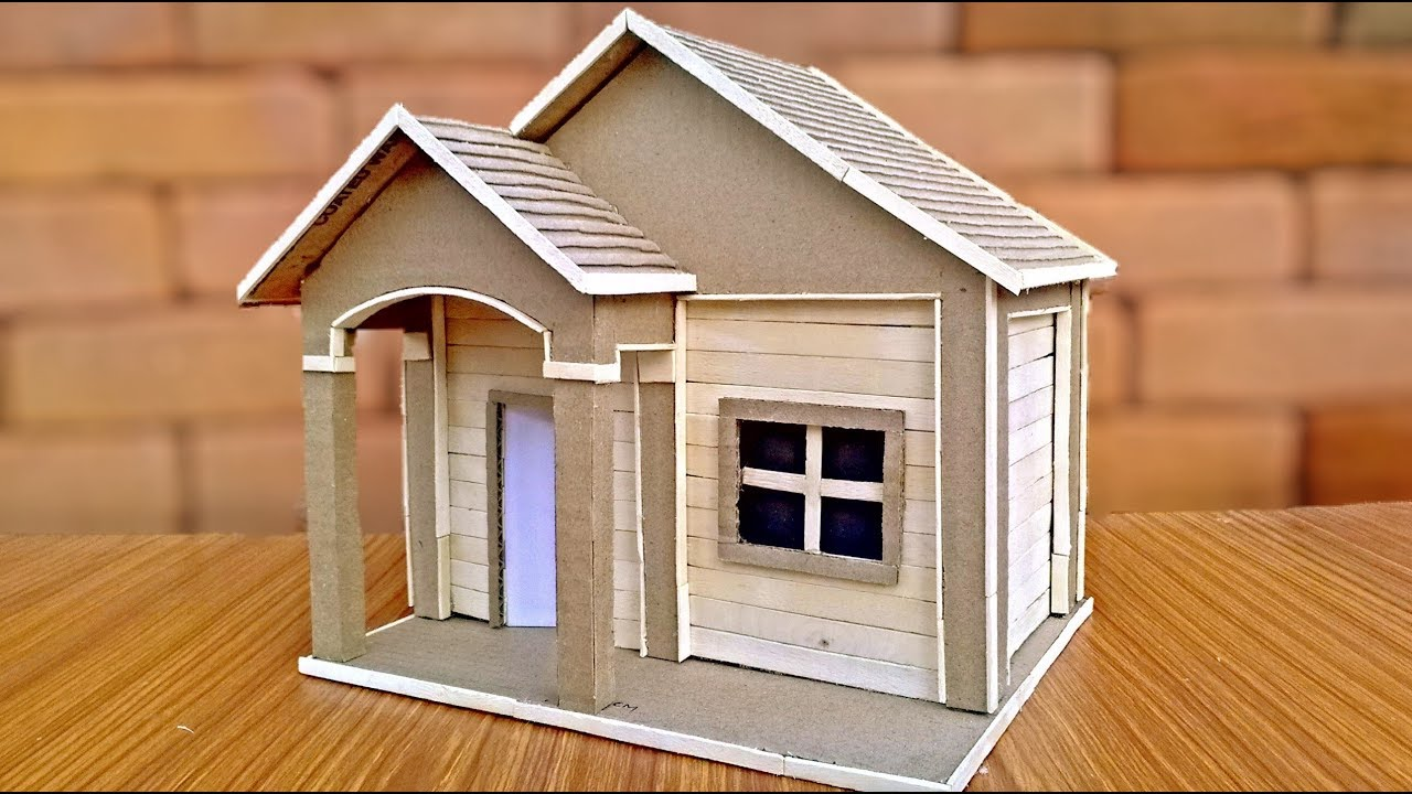How to make cardboard house easily youtube for Build your own 3d house