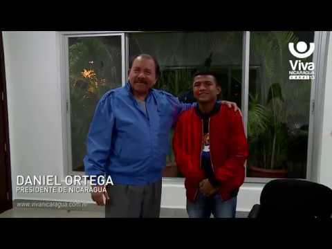 """Presidente Daniel se reunió con Román """"Chocolatito"""" González"""