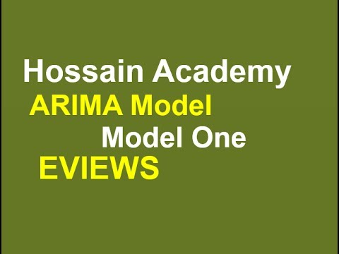 ARIMA Model. Model One. EVIEWS