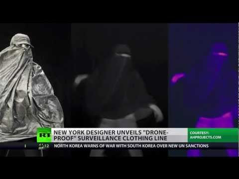 Anti-drone clothing to hide from Big Brother