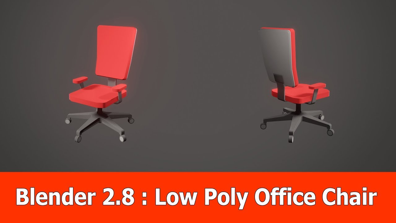 Blender 2 8 Low Poly Office Chair Timelapse Youtube