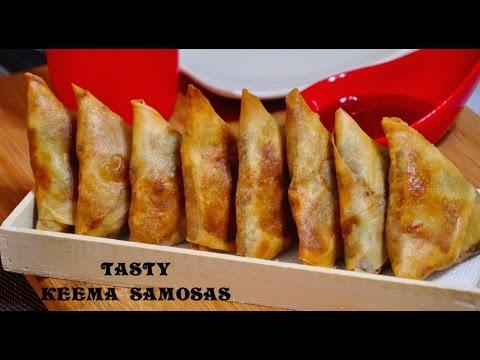 Keema Samosa   Sambousek with Minced meat   Recipes 'R' Simple