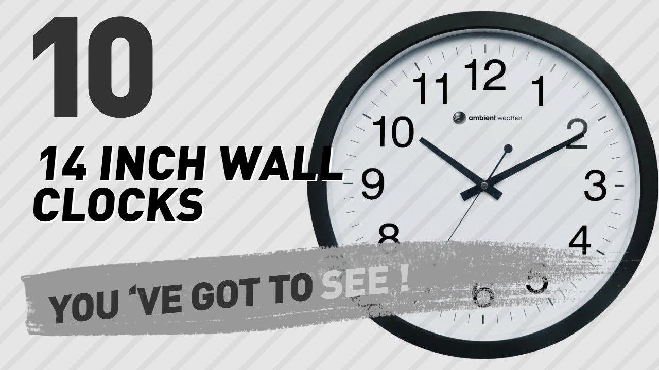 14 inch wall clocks new popular 2017 youtube 14 inch wall clocks new popular 2017 amipublicfo Choice Image