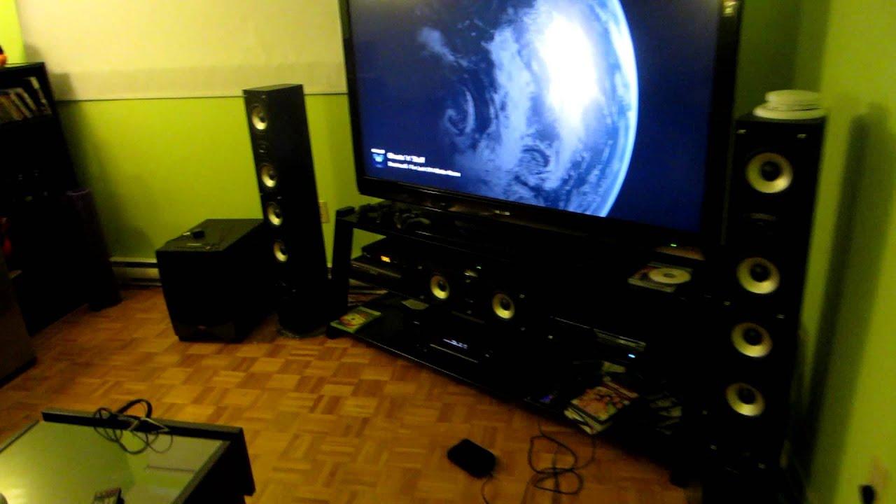 my basement home theater setup youtube rh youtube com Home Theater Rooms DIY Home Theater Rooms DIY