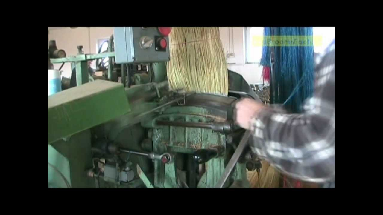 Corn Broom Production In Ecobrooms Factory Serbia Youtube