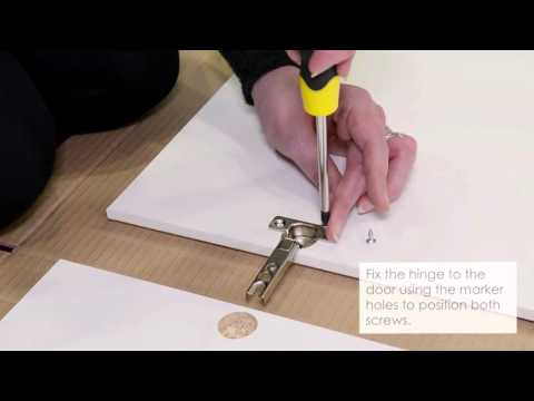 How to hinge fix and change door adjustments for a flat pack wardrobe