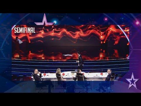 Samuel Moreno es capaz de predecir el futuro con un billete | Semifinal 3 | Got Talent España 2018