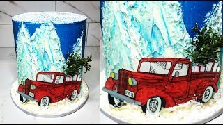 Cake decorating tutorials | CHRISTMAS cake | Sugarella Sweets