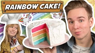 RAINBOW CAKE BAKKEN! - Nailed it #2