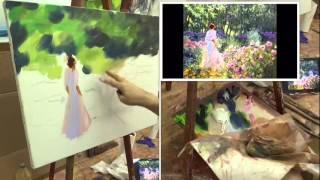 Урок живописи маслом  Мастер класс по работе Ричарда Джонсона  Oil painting