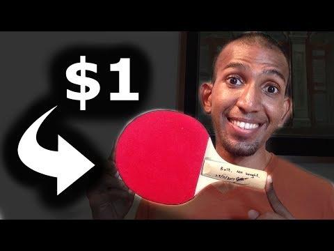$1 Ping Pong Racket Restoration/ Refurbishment | DIY AAE