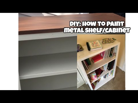 Genial How To Paint Metal File Cabinet/ Shelf | Spray Paint Vs Roller | Part 1