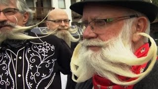 Raw: Austria Beard Competition Gets Hairy