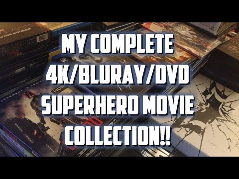 MY COMPLETE 4K/BLURAY/DVD SUPERHERO MOVIE COLLECTION!!