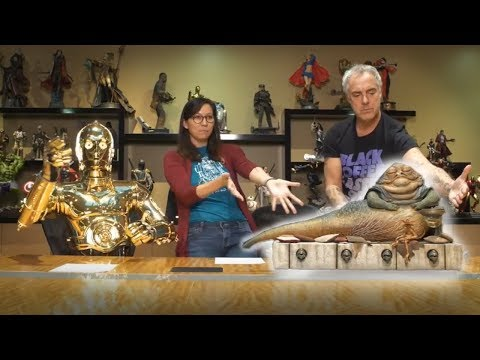 Titus Welliver and C3PO Reveal Jabba the Hutt & Throne Sixth Scale Figure!