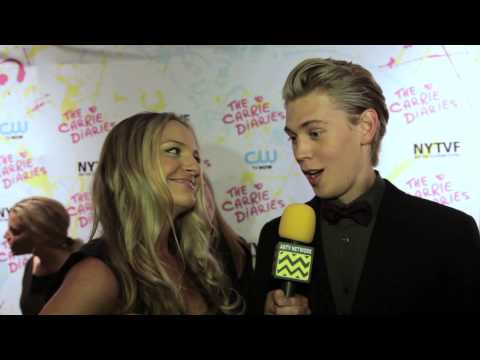AfterBuzz TV Interviews Austin Butler @ CW's The Carrie Diaries Premiere