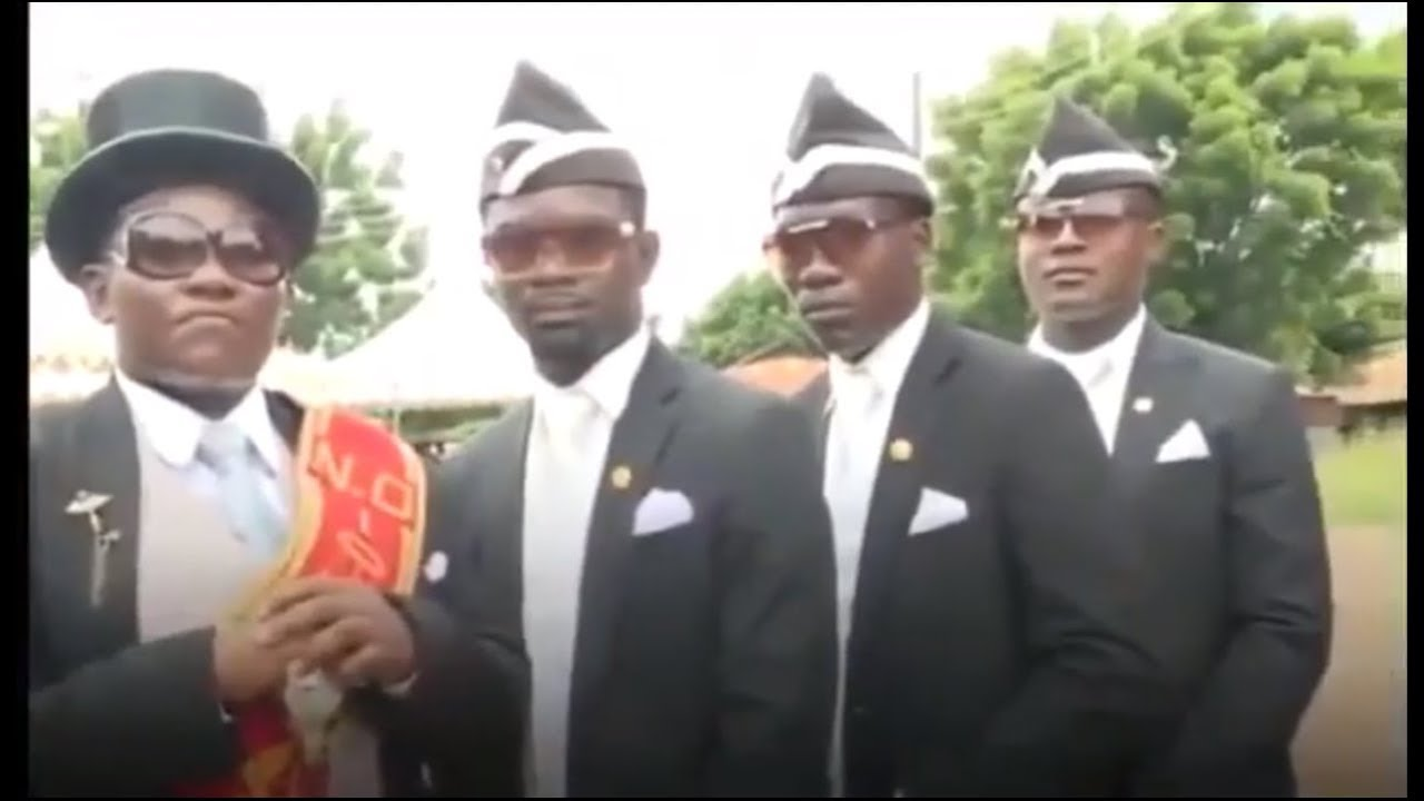 BLACK MAN DANCING WITH COFFIN MEME   FUNNY Funeral Dance ...
