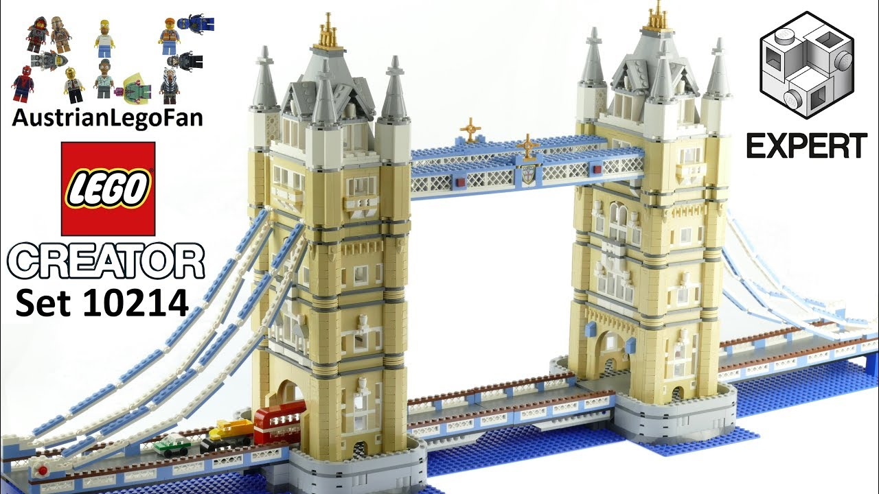lego creator 10214 tower bridge lego speed build youtube. Black Bedroom Furniture Sets. Home Design Ideas