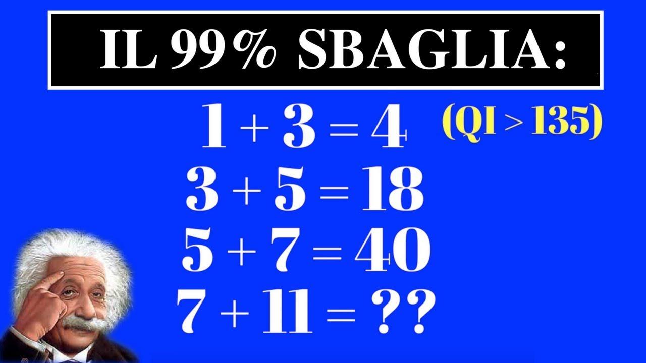 Qual è Il Tuo Quoziente Intellettivo Logico Matematico Test Del Qi