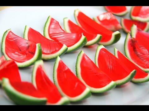 Watermelon Jello Shots Slices