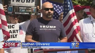 39 Latinos For Trump Rally In Anaheim