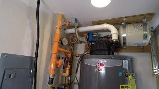 Install A Gas Water Heater With Recirculating Hot Water Loop And Pump E-98