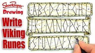 How to draw a Viking Rune Alphabet - Spoken Tutorial