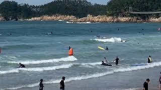 서핑존 외각  대피 방송 만리포 해수욕장 210821