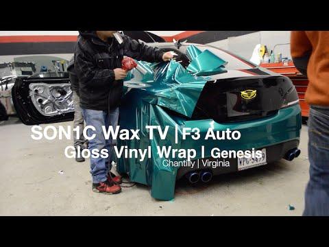 Professional Vinyl Wrapping Time Lapse Hyundai Genesis Gloss Vinyl Wrap