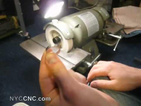 Grinding An Hss Lathe Tool Blank For Micromark 7x14 Mini