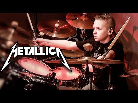 HARDWIRED (10 year old Drummer) Drum Cover by Avery Drummer Molek