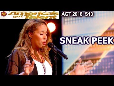 SNEAK PEEK Glennis Grace 39yo Amazing Whitney Houston Cover America's Got Talent 2018 Sneak Peek AGT