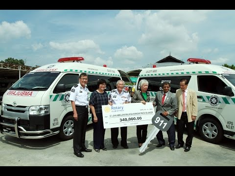 Two new ambulances, thanks to Rotarians